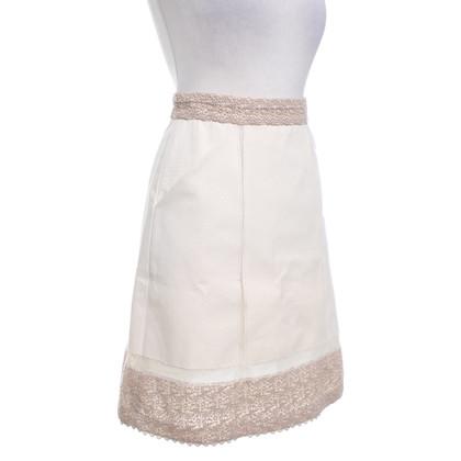 La Perla Cream skirt with hole tip