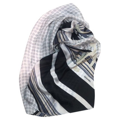Chanel Silk scarf with pattern