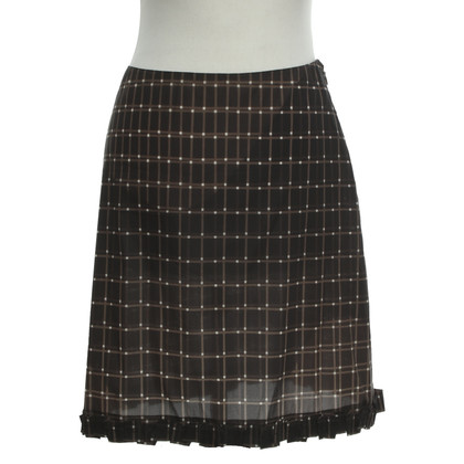 Prada skirt with checked pattern