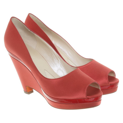 Jil Sander pumps in red
