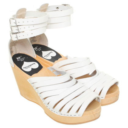 Swedish Hasbeens for H&M White sandals