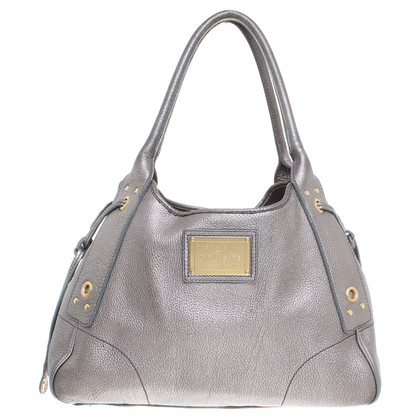 Car Shoe Handbag in metallic