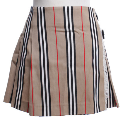Burberry Mini skirt with striped pattern