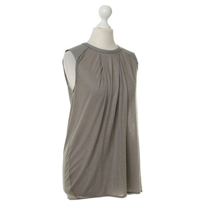 Helmut Lang inserti in pelle Top