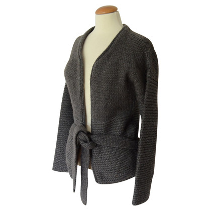 Humanoid Gray cardigan with belt