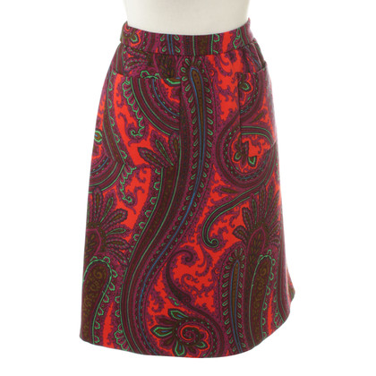 Miu Miu skirt with Paisley pattern