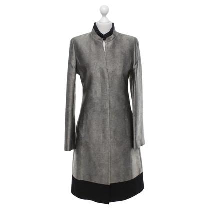 Hugo Boss Coat in black / metal