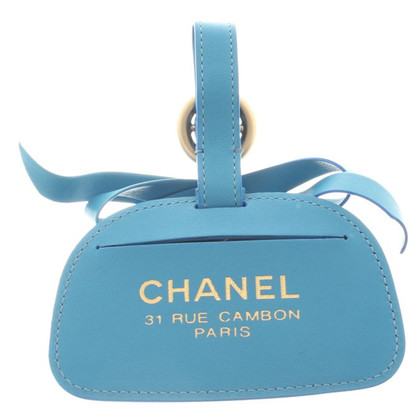 Chanel Adresse Tag in Blue