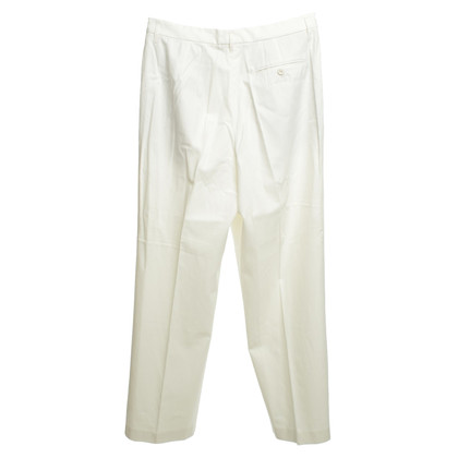 Gunex Pleated pants in white