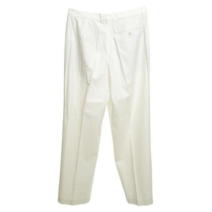 Gunex pantaloni a pieghe in bianco