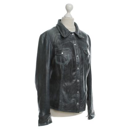 Arma The used-look leather jacket