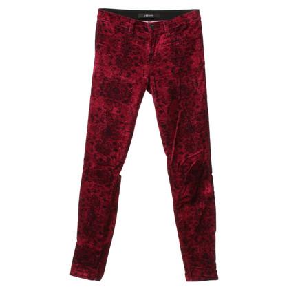J Brand Pantaloni di velluto a Bordeaux
