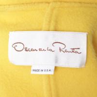 Oscar de la Renta Manteau en jaune