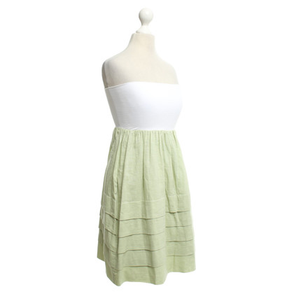 Theory Bandeau jurk in groen / wit