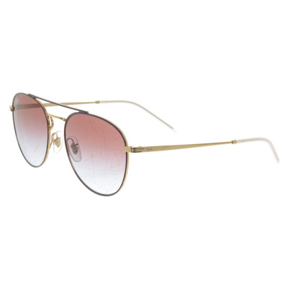 Ray Ban Aviator sunglasses in purple / gold