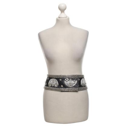 Dolce & Gabbana Waist belt with gemstone trim
