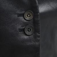 Brioni Leder-Blazer in Schwarz