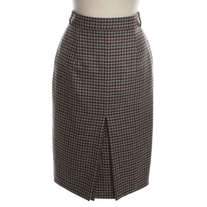 Loro Piana Cashmere skirt with Houndstooth pattern