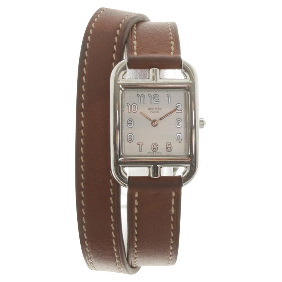 Hermès Uhr mit Lederarmband