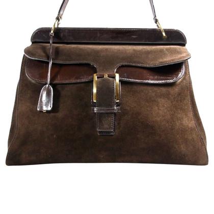 Gucci Arzt-Tasche aus Wildleder mit Leder