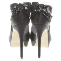 Karen Millen Peep-dita dei piedi in nero