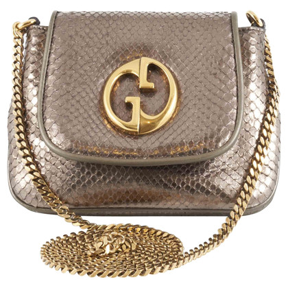 Gucci Python leather bag