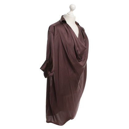 Paul & Joe Silk dress in aubergine
