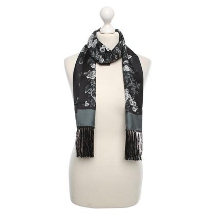 Dolce & Gabbana Sciarpa in seta con stampa floreale