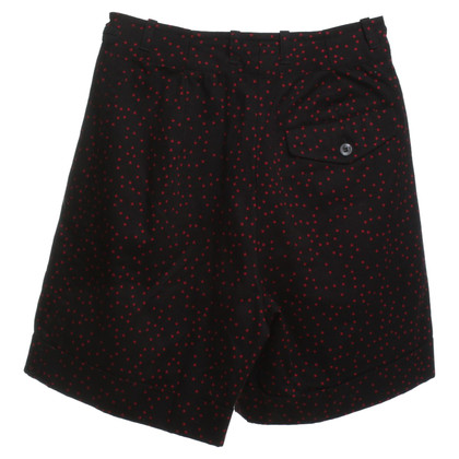 Dries van Noten Shorts in Schwarz/Rot