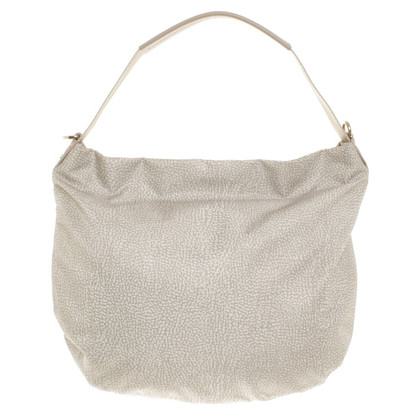 Borbonese Shopper in beige / white