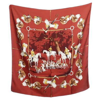 Hermès Seidentuch mit Hunde-Motiv