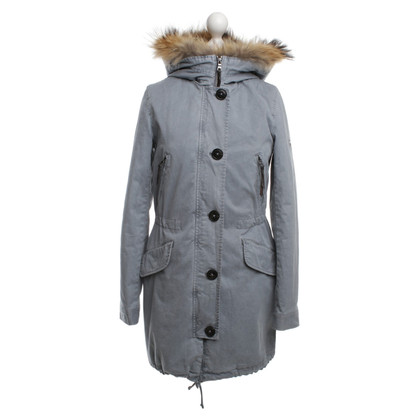 Blonde No8 Parka with fur hood