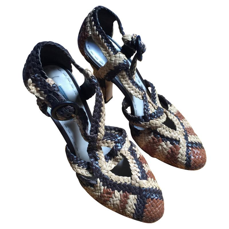 sandali prada intrecciati