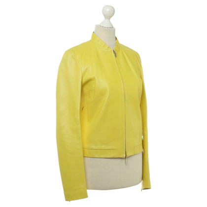 Joseph Leather jacket in yellow