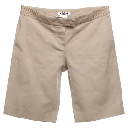 Chloé Bermuda shorts in beige