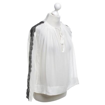 By Malene Birger camicetta di seta in bianco
