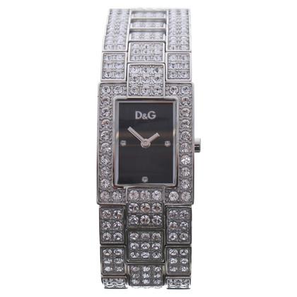D&G Silver tone Bracelet Watch