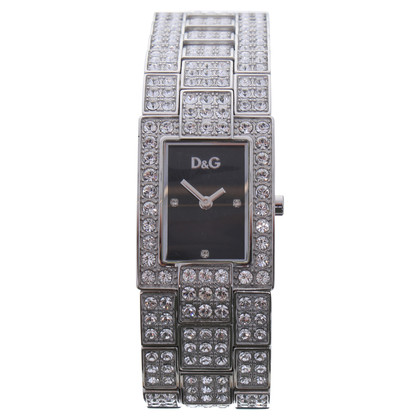 D&G Silberfarbene Armbanduhr