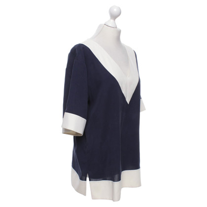 Tory Burch Blouse in Blauw / Wit