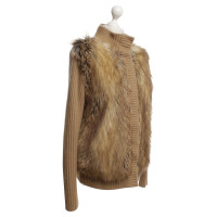 Michael Kors Cardigan with woven fur trim