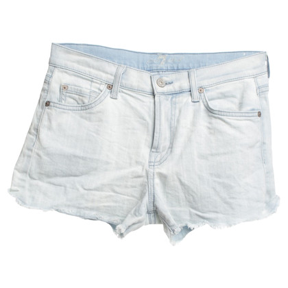 7 For All Mankind Denim shorts in lichtblauw