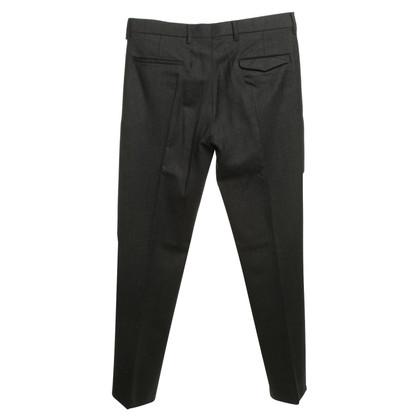 Prada pantaloni a pieghe in grigio