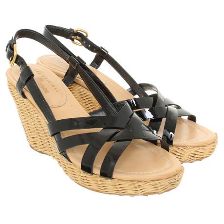 Car Shoe Sandaletten mit Keilabsatz Schwarz