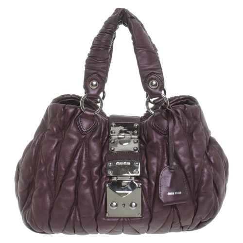 Miu Miu Handbag in purple - Second Hand Miu Miu Handbag in purple ... 7c60ad8893465