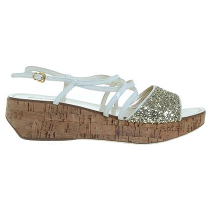 Miu Miu Sandals with wedge heel