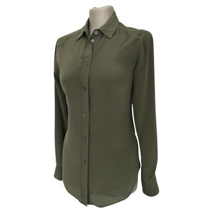 Filippa K Silk blouse in green