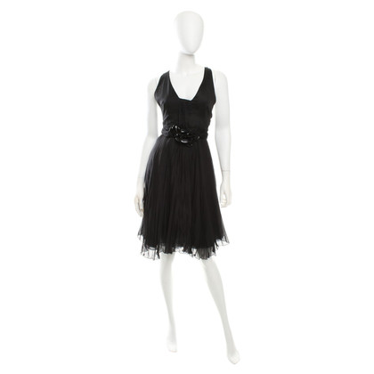 Versace Pleated dress in black