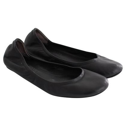 Vera Wang ballerine in pelle nera
