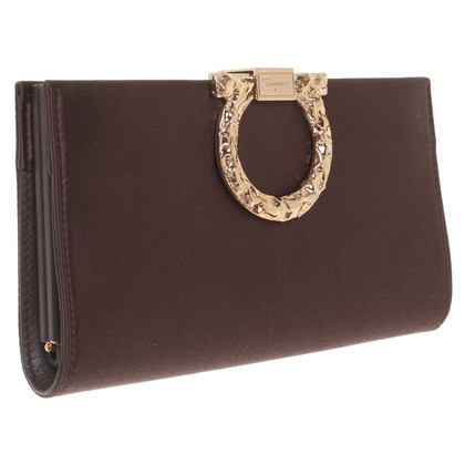 Salvatore Ferragamo satin clutch