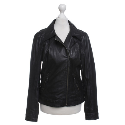 Oakwood Lederjacke in Schwarz